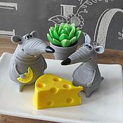 Сувениры и подарки handmade. Livemaster - original item Soap rat. Handmade.