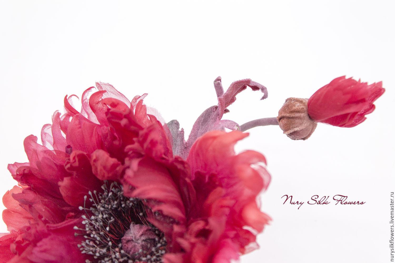 Brooch Poppy Silk Flamenco Shop Online On Livemaster With