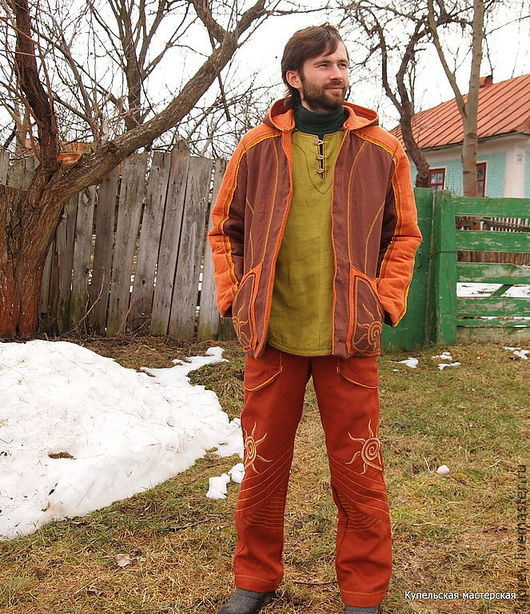 """Верхняя одежда ручной работы. Ярмарка Мастеров - ручная работа. Купить Костюм тёплый мужской """"Солнечное настроение"""". Handmade."""