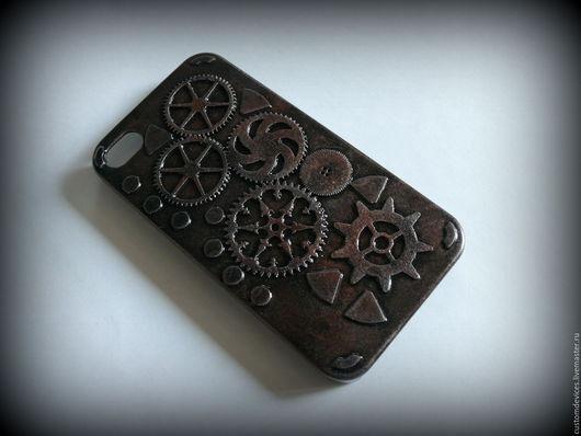Для телефонов ручной работы. Ярмарка Мастеров - ручная работа. Купить Стимпанк чехол для iPhone 4. Handmade. Телефон