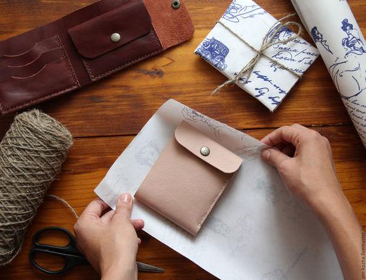 Кошельки и визитницы ручной работы. Ярмарка Мастеров - ручная работа. Купить Женское кожаное портмоне кошелёк. Handmade. Комбинированный