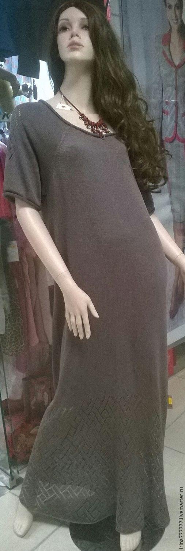 Платья ручной работы. Ярмарка Мастеров - ручная работа. Купить платье вязаное из натурального шелка. Handmade. Серый, шелк 100%