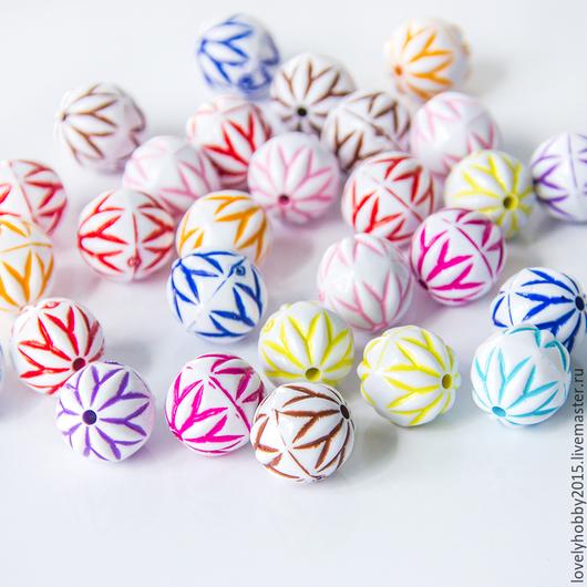 разноцветные пластиковые бусины БАЛКАНЫ