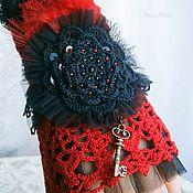 Украшения handmade. Livemaster - original item Bracelet cuff style Lolita Gothic Vintage style. Handmade.