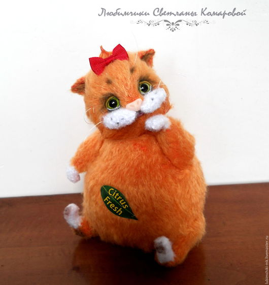 Вязание ручной работы. Ярмарка Мастеров - ручная работа. Купить Липисинка кошка. Handmade. Рыжий, липисинка
