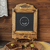 Для дома и интерьера handmade. Livemaster - original item Key holder/ chalk Board for record