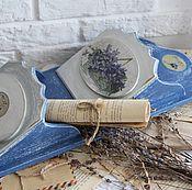 """Для дома и интерьера ручной работы. Ярмарка Мастеров - ручная работа Полка-конверт """"Violets"""". Handmade."""