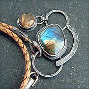 Украшения ручной работы. Ярмарка Мастеров - ручная работа Ожерелье с лабрадором и оптическим кальцитом. Handmade.