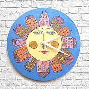 Для дома и интерьера handmade. Livemaster - original item Watch baby wall City Night clock handmade. Handmade.