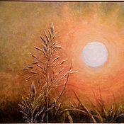 Картины и панно ручной работы. Ярмарка Мастеров - ручная работа Шепот Солнца картина акрил. Handmade.