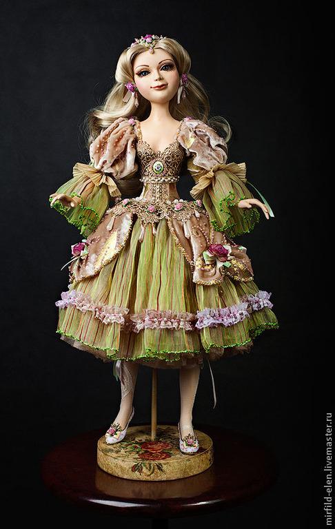 Коллекционные куклы ручной работы. Ярмарка Мастеров - ручная работа. Купить Весна.. Handmade. Салатовый, интерьерная кукла, подарок девушке