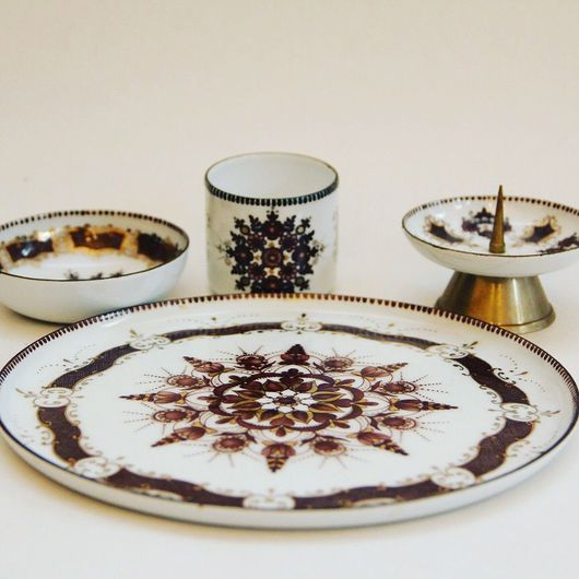 Винтажные сувениры. Ярмарка Мастеров - ручная работа. Купить Набор эмаль. Handmade. Комбинированный, подсвечник
