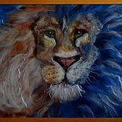 """Картины и панно ручной работы. Ярмарка Мастеров - ручная работа Картина """"Львиная душа"""". Handmade."""
