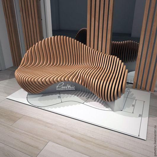 Мебель ручной работы. Ярмарка Мастеров - ручная работа. Купить параметрическая скамья. Handmade. Комбинированный, параметрический, параметрика, скамья, диван