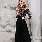 Одежда handmade. Livemaster - original item Dress from handkerchief to the floor,black dress from handkerchief. Handmade.