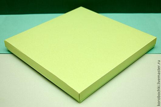 Подарочная упаковка ручной работы. Ярмарка Мастеров - ручная работа. Купить Коробка 33х33х4 см. Handmade. Салатовый, подарочная упаковка