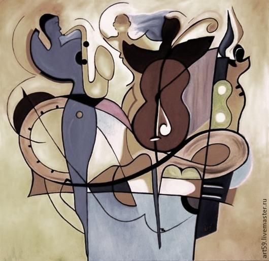 "Абстракция ручной работы. Ярмарка Мастеров - ручная работа. Купить Абстракция "" В ритме музыке "". Handmade. Абстракция"