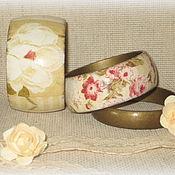 Украшения handmade. Livemaster - original item Beige sets of women`s underwear from the tree In retro style. olive. Handmade.