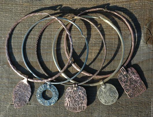 """Колье, бусы ручной работы. Ярмарка Мастеров - ручная работа. Купить Ожерелье- кольцо """"Рим"""". Handmade. Серебряный, кольцо, латунь"""