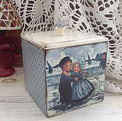 """Для дома и интерьера ручной работы. Ярмарка Мастеров - ручная работа Коробочка. """" детки"""". Handmade."""
