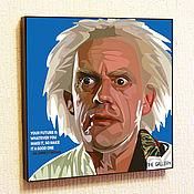 Подарки к праздникам handmade. Livemaster - original item Picture of Emmett brown in the style of Pop Art. Handmade.