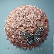Свадебный салон ручной работы. Ярмарка Мастеров - ручная работа Букет из лент с бабочкой. Handmade.