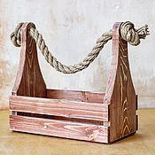 Для дома и интерьера ручной работы. Ярмарка Мастеров - ручная работа Ящик деревянный универсальный №3. Handmade.