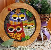 Картины и панно ручной работы. Ярмарка Мастеров - ручная работа Три совы. Handmade.