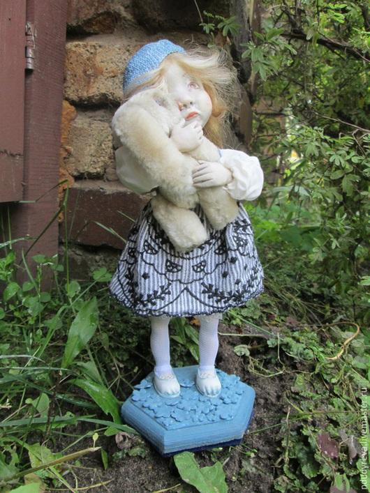 Коллекционные куклы ручной работы. Ярмарка Мастеров - ручная работа. Купить Алёнка. Handmade. Бежевый, авторская кукла, paperclay