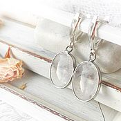 Украшения handmade. Livemaster - original item The First Ice earrings, rhinestone, silver, earrings transparent. Handmade.