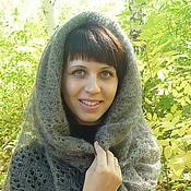 Аксессуары handmade. Livemaster - original item 36-spider feather gray Winter beauty, scarf, shawl, accessories. Handmade.