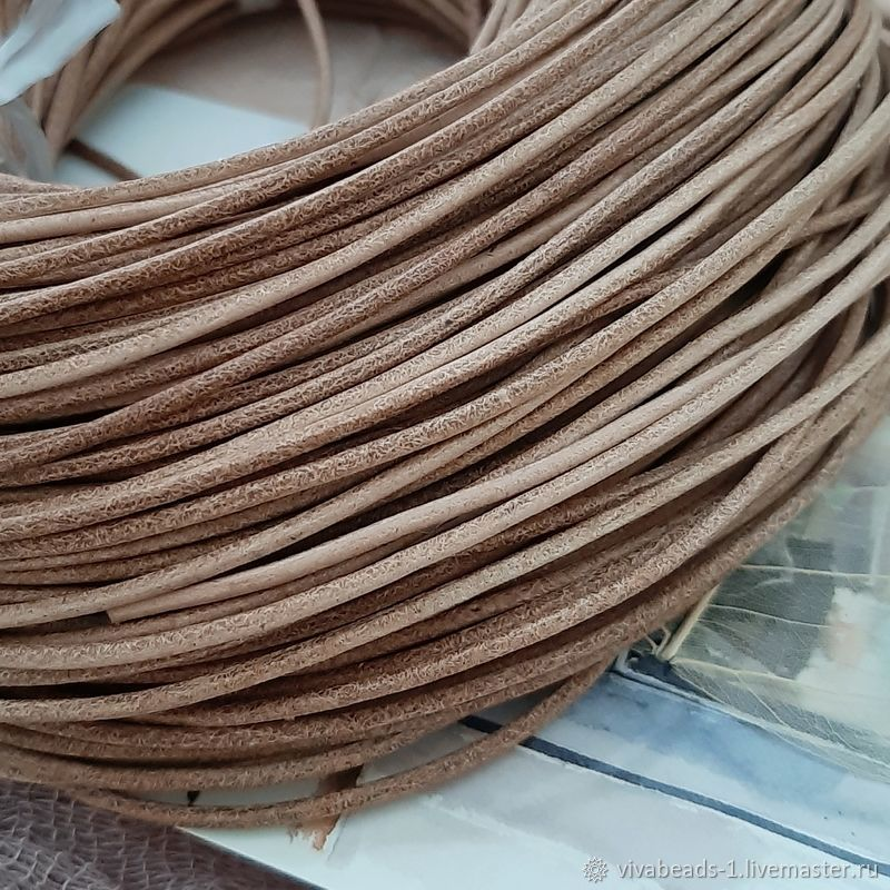Cord leather 2 mm NOT PAINTED. (746-NOC), Cords, Voronezh,  Фото №1