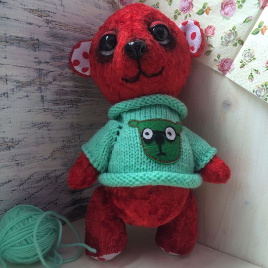 Мишки Тедди ручной работы. Ярмарка Мастеров - ручная работа. Купить Мишка Красный Бархат. Handmade. Мишка тедди