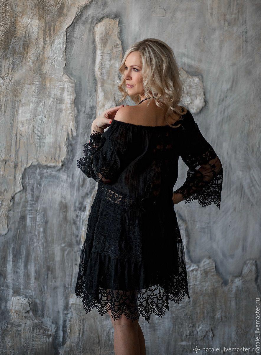 767b7ae8e2edd16 Платья ручной работы. Ярмарка Мастеров - ручная работа. Купить Маленькое  черное платье-туника ...