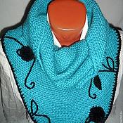 Аксессуары handmade. Livemaster - original item Snood turquoise. Handmade.