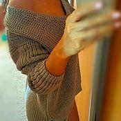 Одежда ручной работы. Ярмарка Мастеров - ручная работа Хлопковый джемпер серый. Handmade.