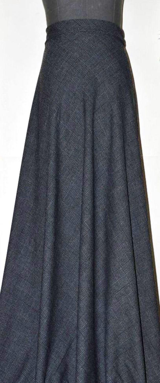 Темно серая клетка    . юбка полусолнце, Юбки, Нижний Новгород,  Фото №1