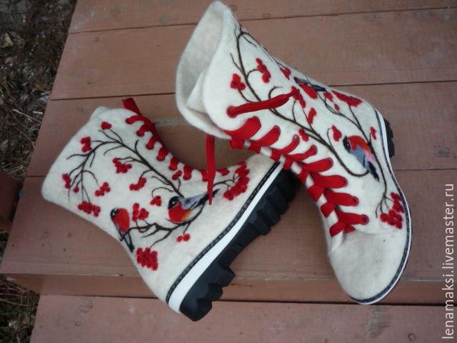 Обувь ручной работы. Ярмарка Мастеров - ручная работа. Купить Валенки- ботинки