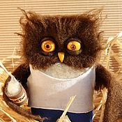 Куклы и игрушки handmade. Livemaster - original item Owl rough morning toy. Handmade.