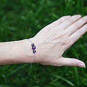 Украшения handmade. Livemaster - original item Bracelet-thread: Minimalist bracelet on a thread with amethyst. Handmade.