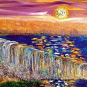 Картины и панно ручной работы. Ярмарка Мастеров - ручная работа Водопады. Handmade.
