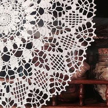 Для дома и интерьера ручной работы. Ярмарка Мастеров - ручная работа Ажурная салфетка молочного цвета. Handmade.