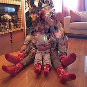 Аксессуары ручной работы. Ярмарка Мастеров - ручная работа Носки в подарок (Family Look). Handmade.