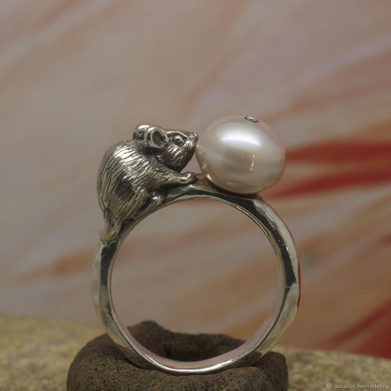 Mouse pearl ring, Rings, Vladivostok,  Фото №1