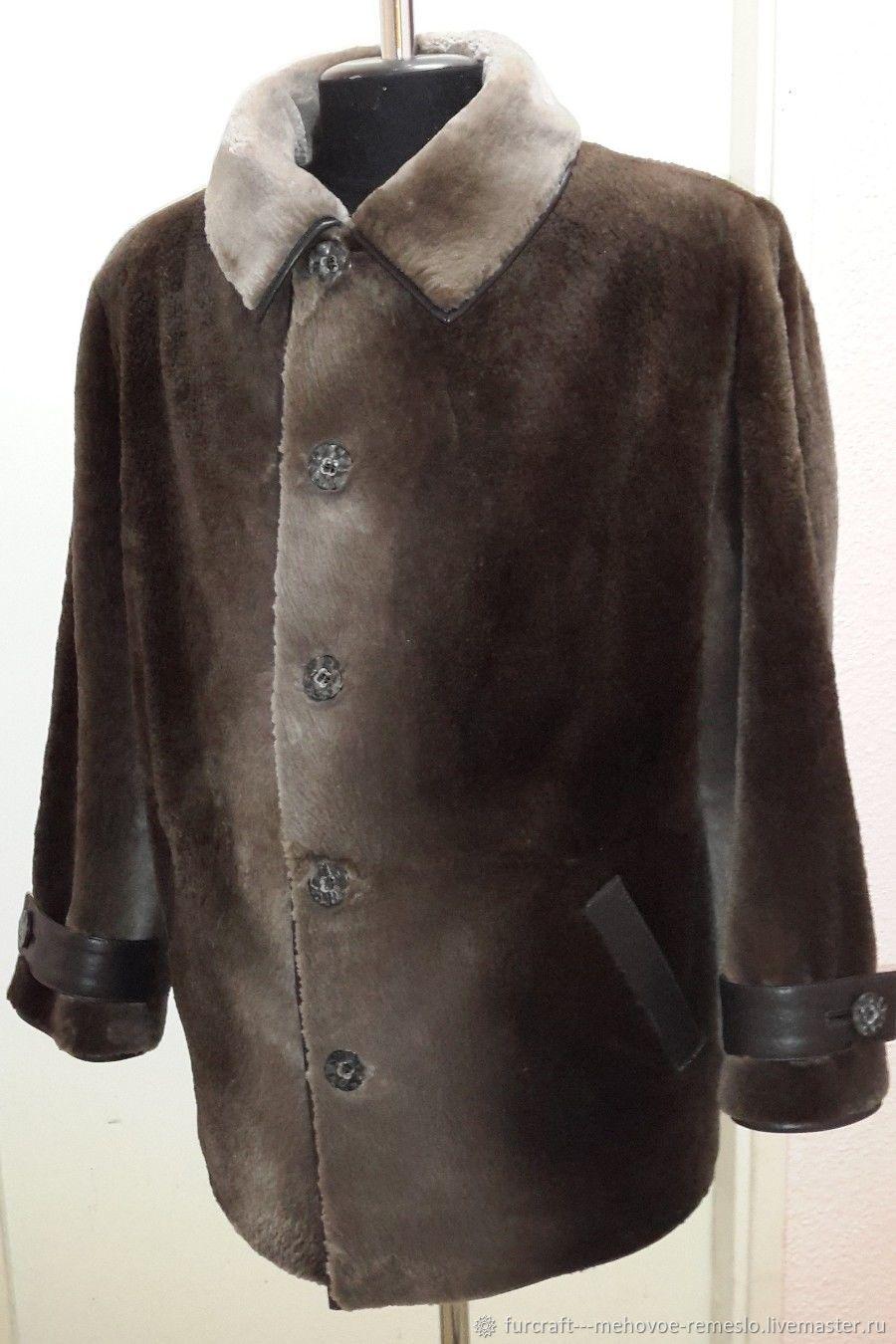 Пальто меховое из стриженого бобра, Верхняя одежда мужская, Санкт-Петербург,  Фото №1