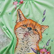 Одежда handmade. Livemaster - original item t-shirt the Fox and the snow. Handmade.