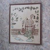 Картины ручной работы. Ярмарка Мастеров - ручная работа Картина в баню. Handmade.