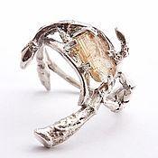 Украшения handmade. Livemaster - original item Silver ring with crystal. Handmade.