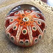 Винтаж handmade. Livemaster - original item Vintage paperweight Murano glass millefiori. Handmade.