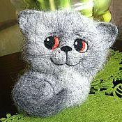 Куклы и игрушки ручной работы. Ярмарка Мастеров - ручная работа Серый котик, рыжий котик.... Handmade.